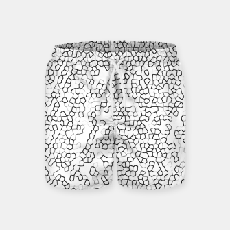 Thumbnail image of Neon Geometric Pattern Design Swim Shorts, Live Heroes