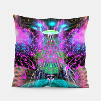 Thumbnail image of Alien Queen From Outer Space Pillow, Live Heroes
