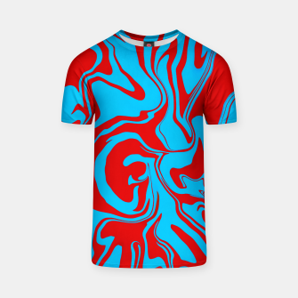 Miniaturka Red and Blue Oil Spill Unisex T-Shirt, Live Heroes