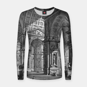 Thumbnail image of Large Sculpture Gallery Built On Arches by Giovanni Battista Piranesi Women sweater, Live Heroes