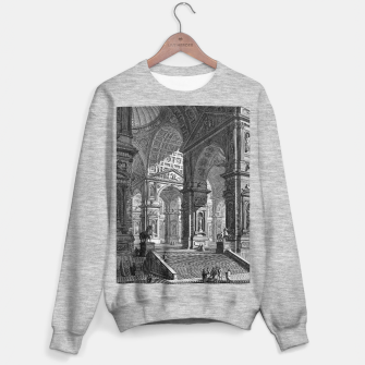 Thumbnail image of Large Sculpture Gallery Built On Arches by Giovanni Battista Piranesi Sweater regular, Live Heroes