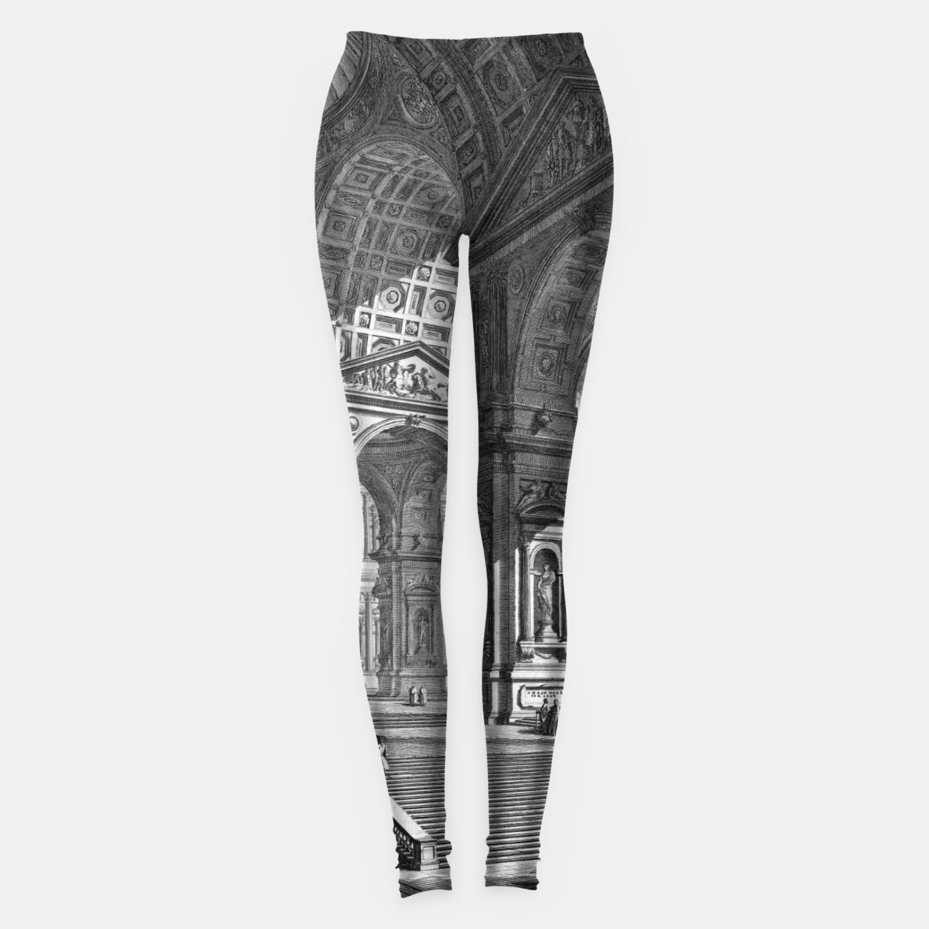 Image of Large Sculpture Gallery Built On Arches by Giovanni Battista Piranesi Leggings - Live Heroes