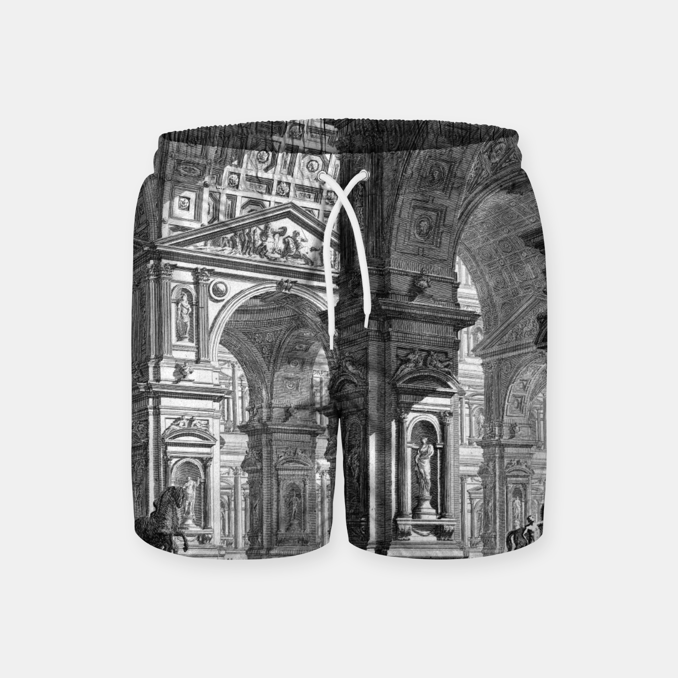 Image of Large Sculpture Gallery Built On Arches by Giovanni Battista Piranesi Swim Shorts - Live Heroes