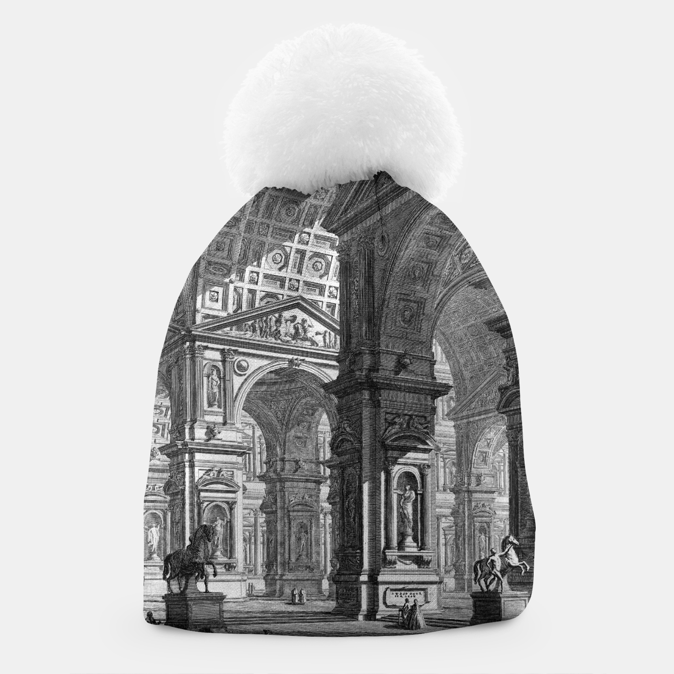 Image de Large Sculpture Gallery Built On Arches by Giovanni Battista Piranesi Beanie - Live Heroes