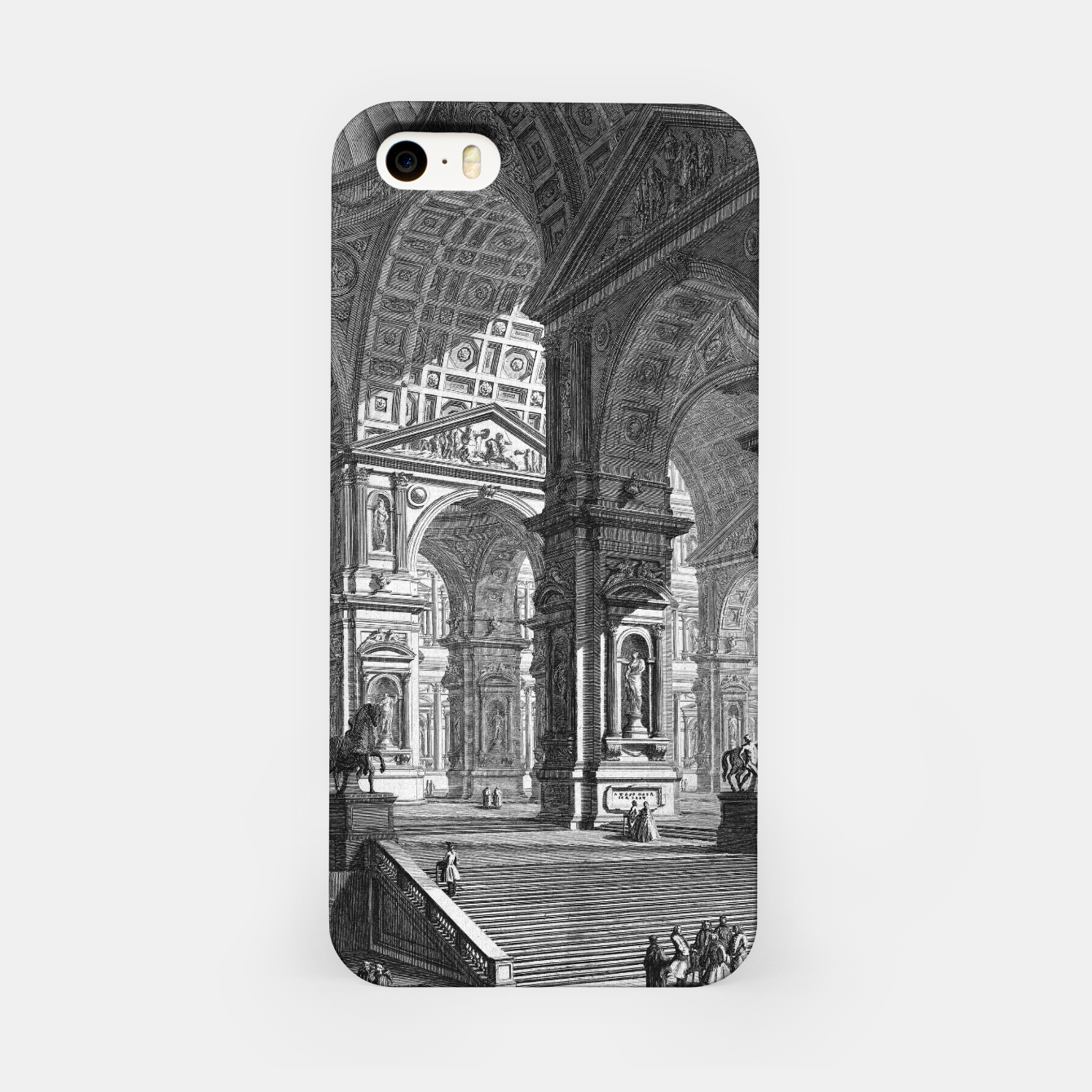 Image of Large Sculpture Gallery Built On Arches by Giovanni Battista Piranesi iPhone Case - Live Heroes