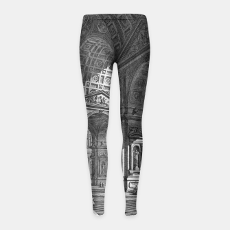 Thumbnail image of Large Sculpture Gallery Built On Arches by Giovanni Battista Piranesi Girl's leggings, Live Heroes