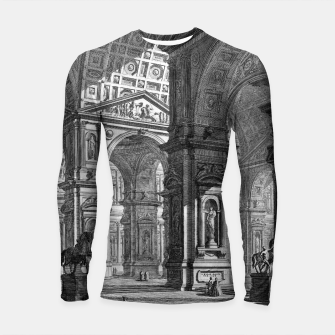 Thumbnail image of Large Sculpture Gallery Built On Arches by Giovanni Battista Piranesi Longsleeve rashguard , Live Heroes