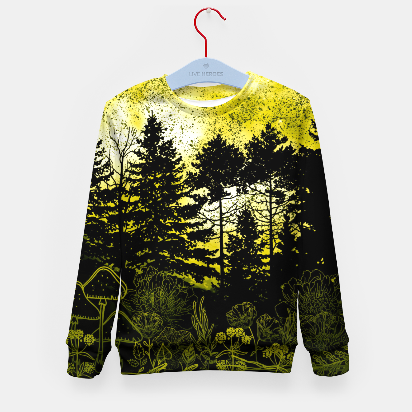 Image of BLUE MOON Kid's sweater - Live Heroes