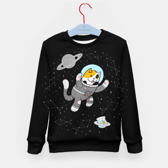 Thumbnail image of Catstronaut Kid's sweater, Live Heroes