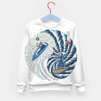 Thumbnail image of Surf Yin Yang Kid's sweater, Live Heroes
