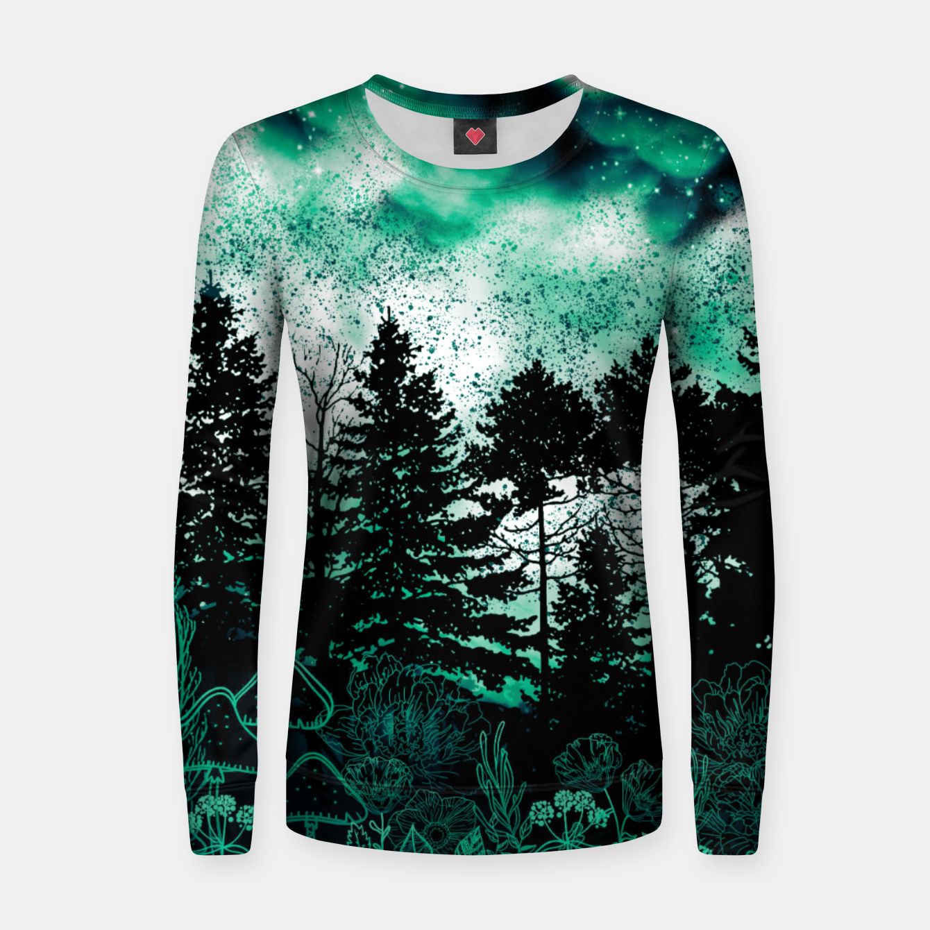 Image of GREEN FOREST Women sweater - Live Heroes