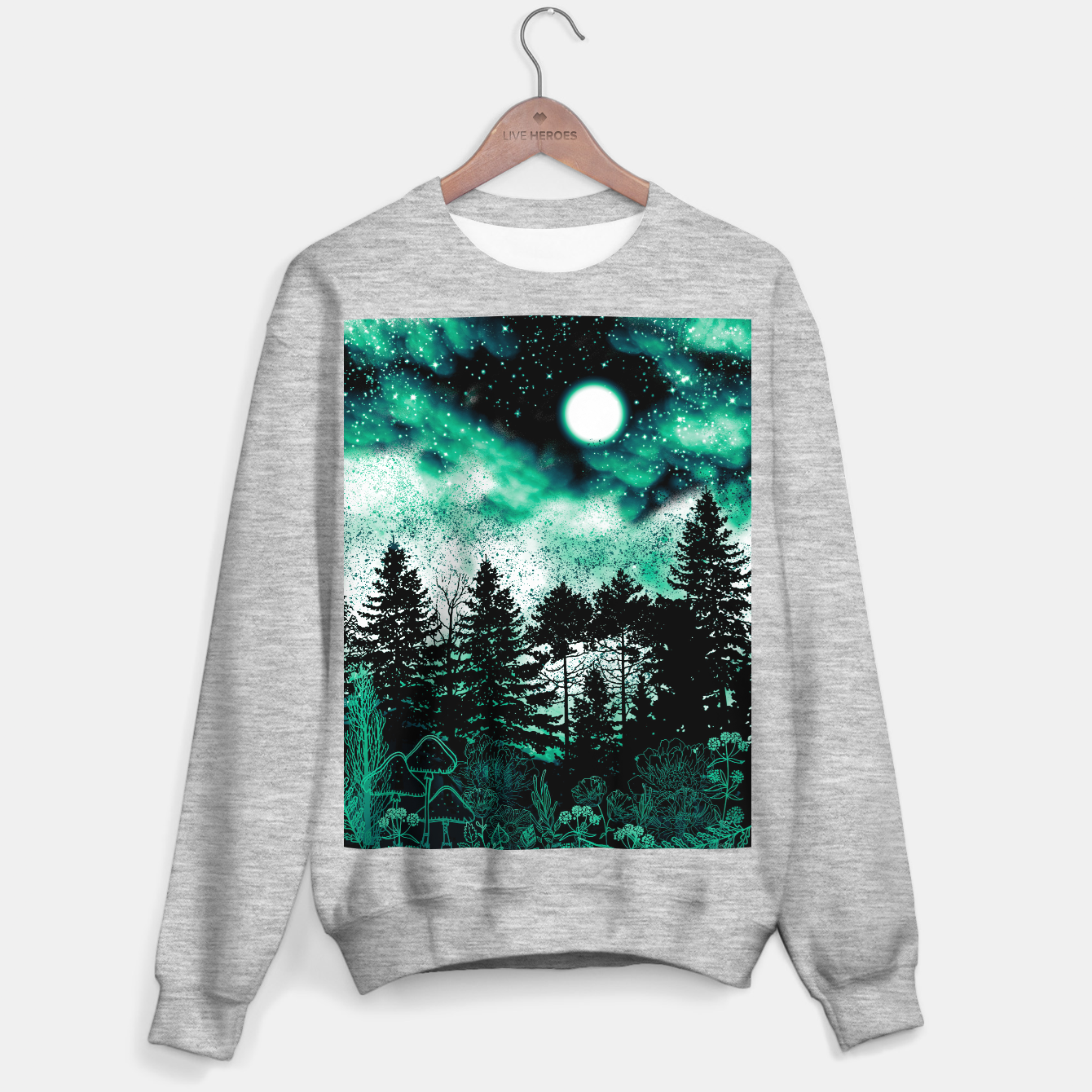 Image of GREEN FOREST Sweater regular - Live Heroes