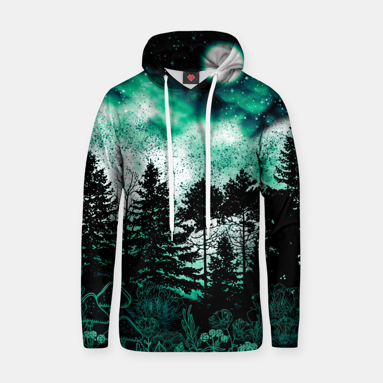 Image of GREEN FOREST Hoodie - Live Heroes