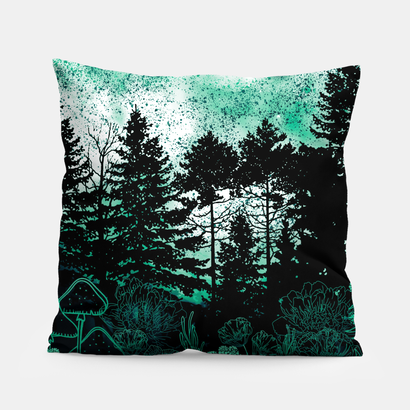 Foto GREEN FOREST Pillow - Live Heroes