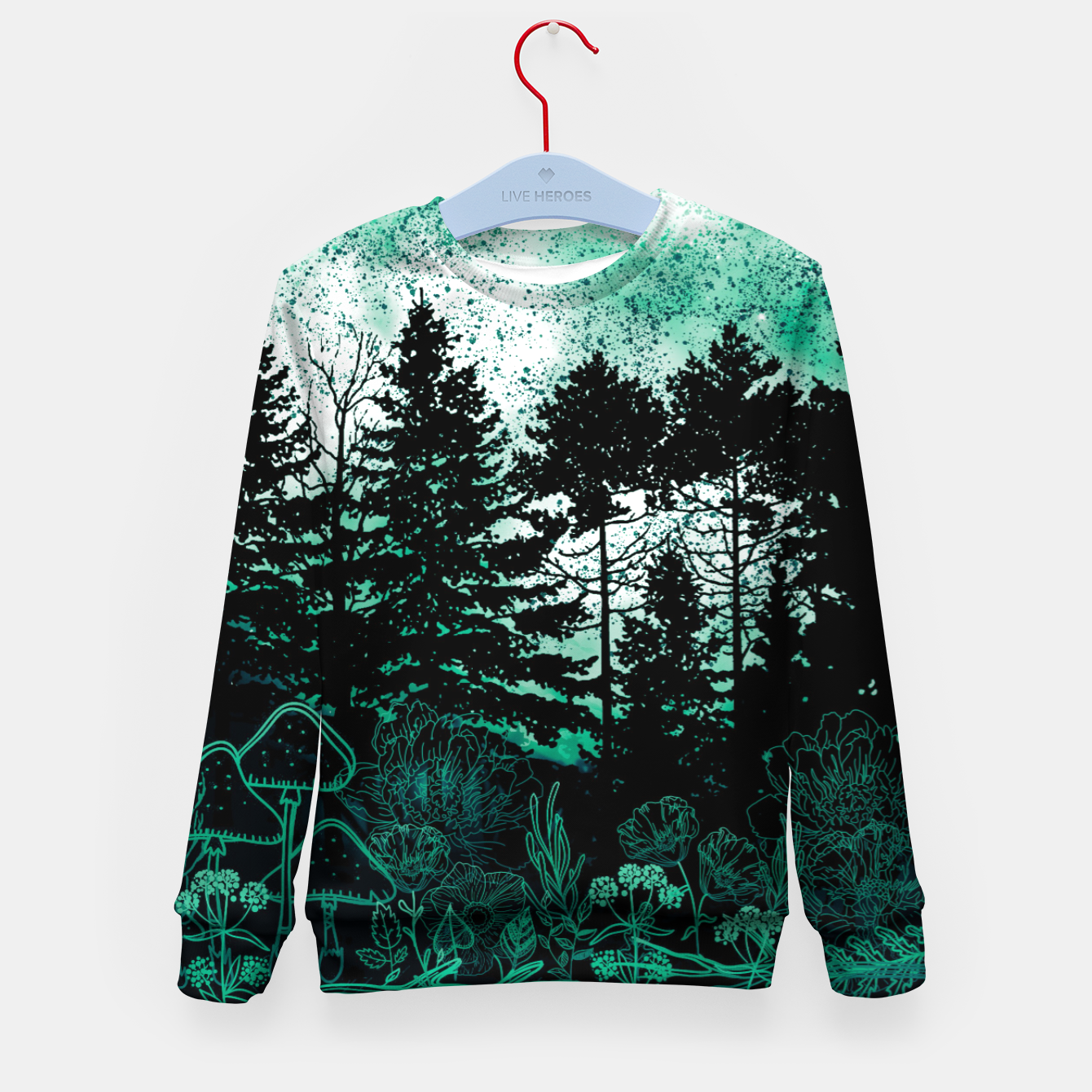 Image of GREEN FOREST Kid's sweater - Live Heroes