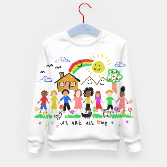 Thumbnail image of We are all One Kid's sweater, Live Heroes