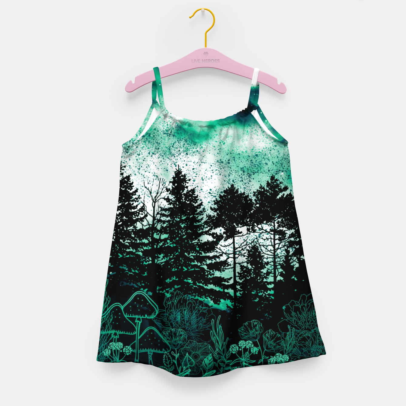 Image of GREEN FOREST Girl's dress - Live Heroes