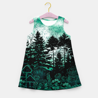 Miniatur GREEN FOREST Girl's summer dress, Live Heroes