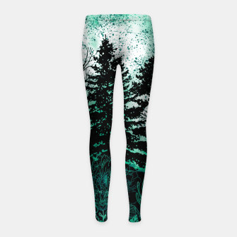 Miniatur GREEN FOREST Girl's leggings, Live Heroes
