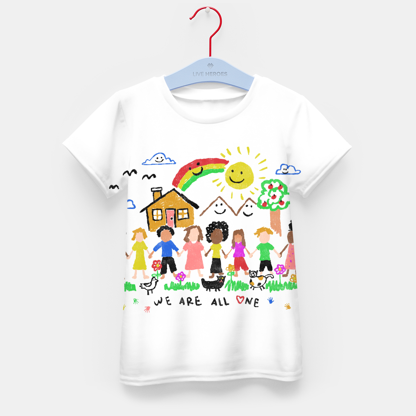 Image of We are all One Kid's t-shirt - Live Heroes