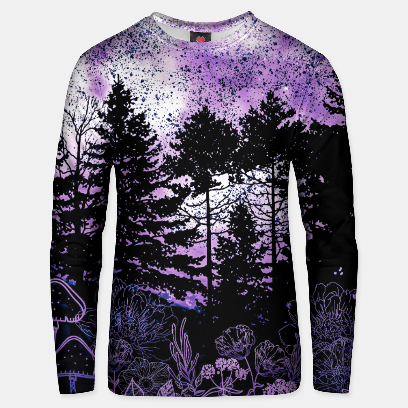 Image of PURPLE FOREST Unisex sweater - Live Heroes