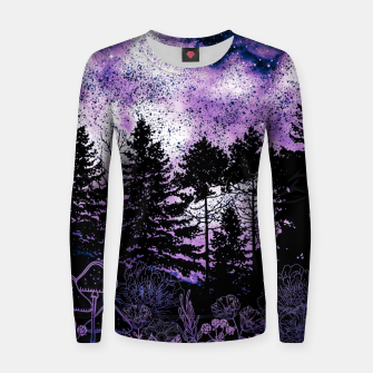 Miniatur PURPLE FOREST Women sweater, Live Heroes