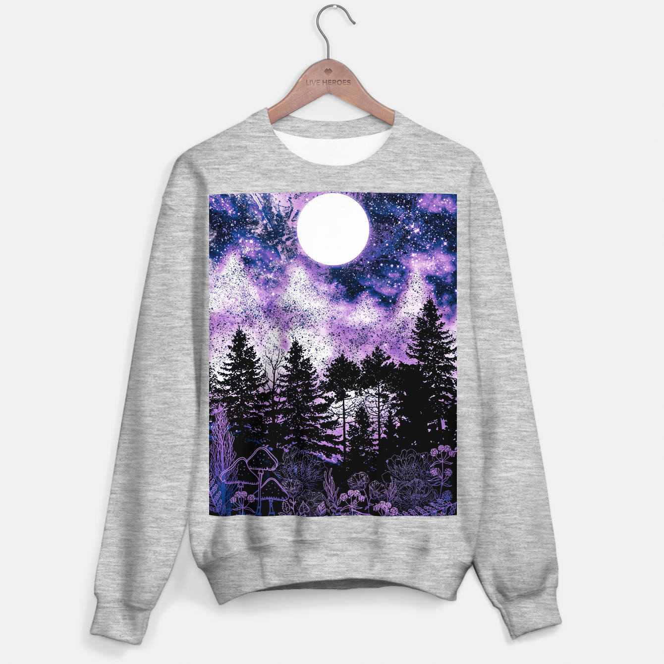 Image of PURPLE FOREST Sweater regular - Live Heroes
