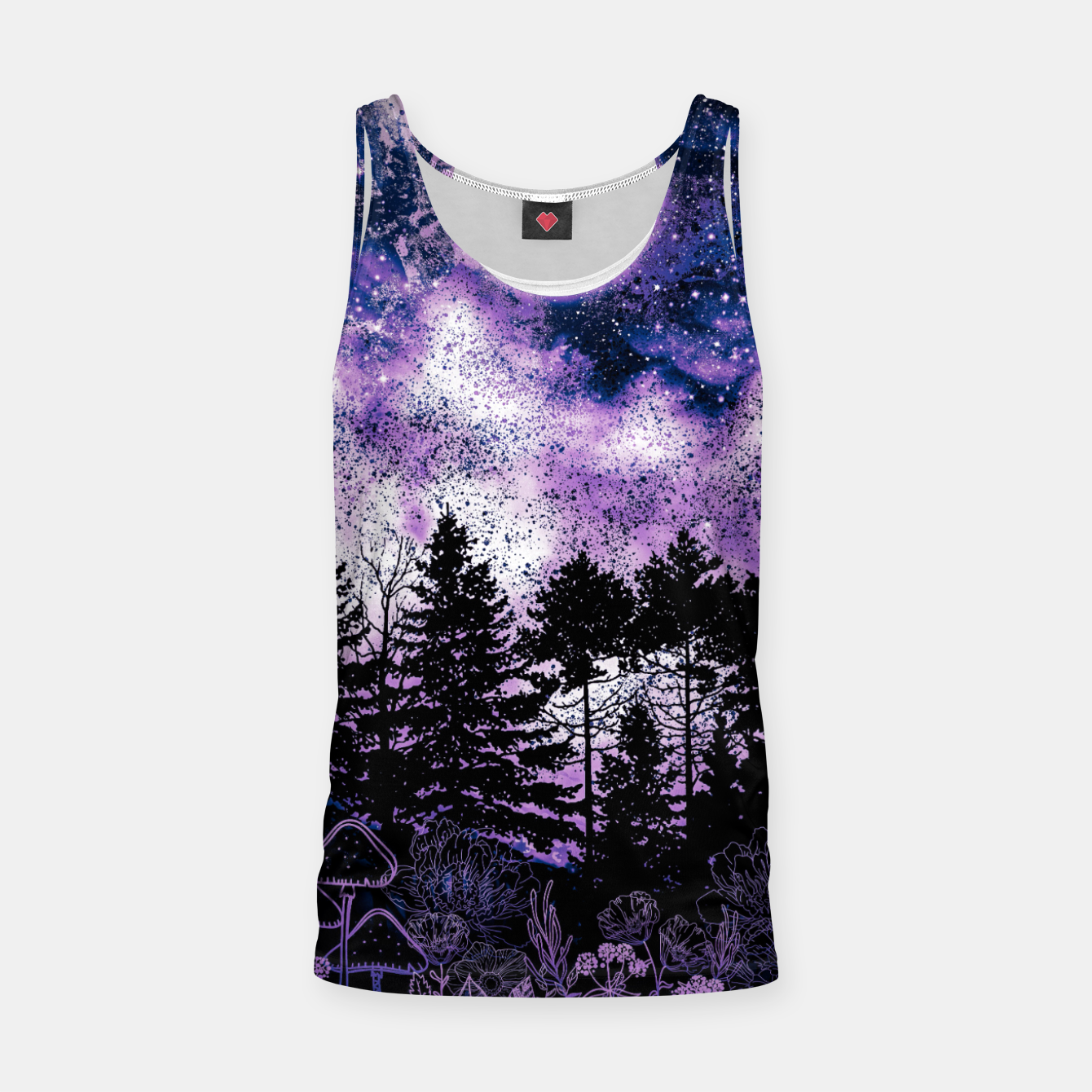 Image of PURPLE FOREST Tank Top - Live Heroes