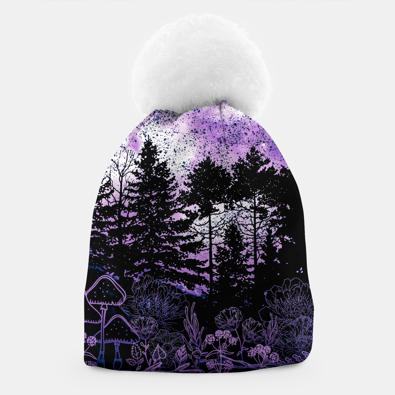 Image of PURPLE FOREST Beanie - Live Heroes