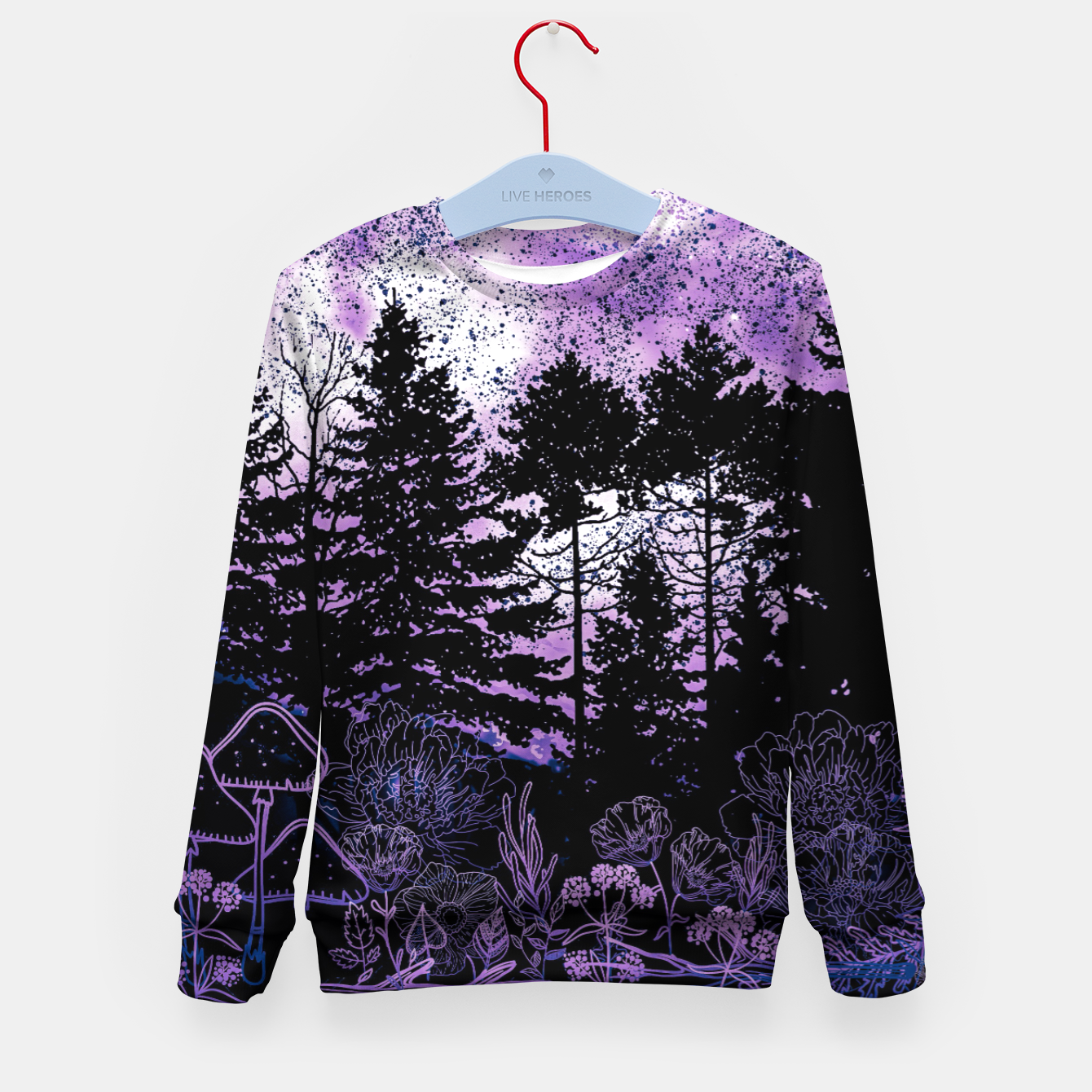 Image of PURPLE FOREST Kid's sweater - Live Heroes