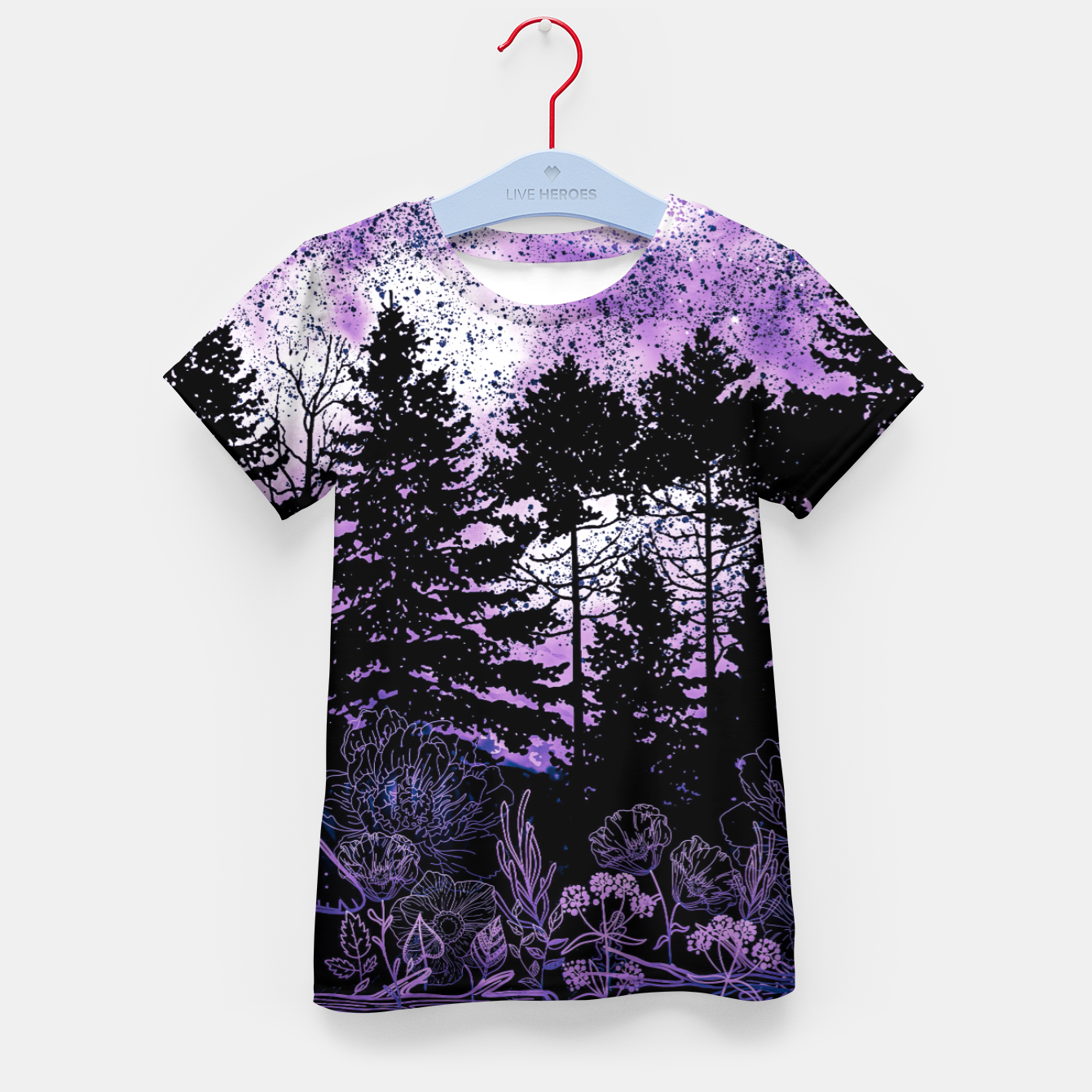 Image of PURPLE FOREST Kid's t-shirt - Live Heroes