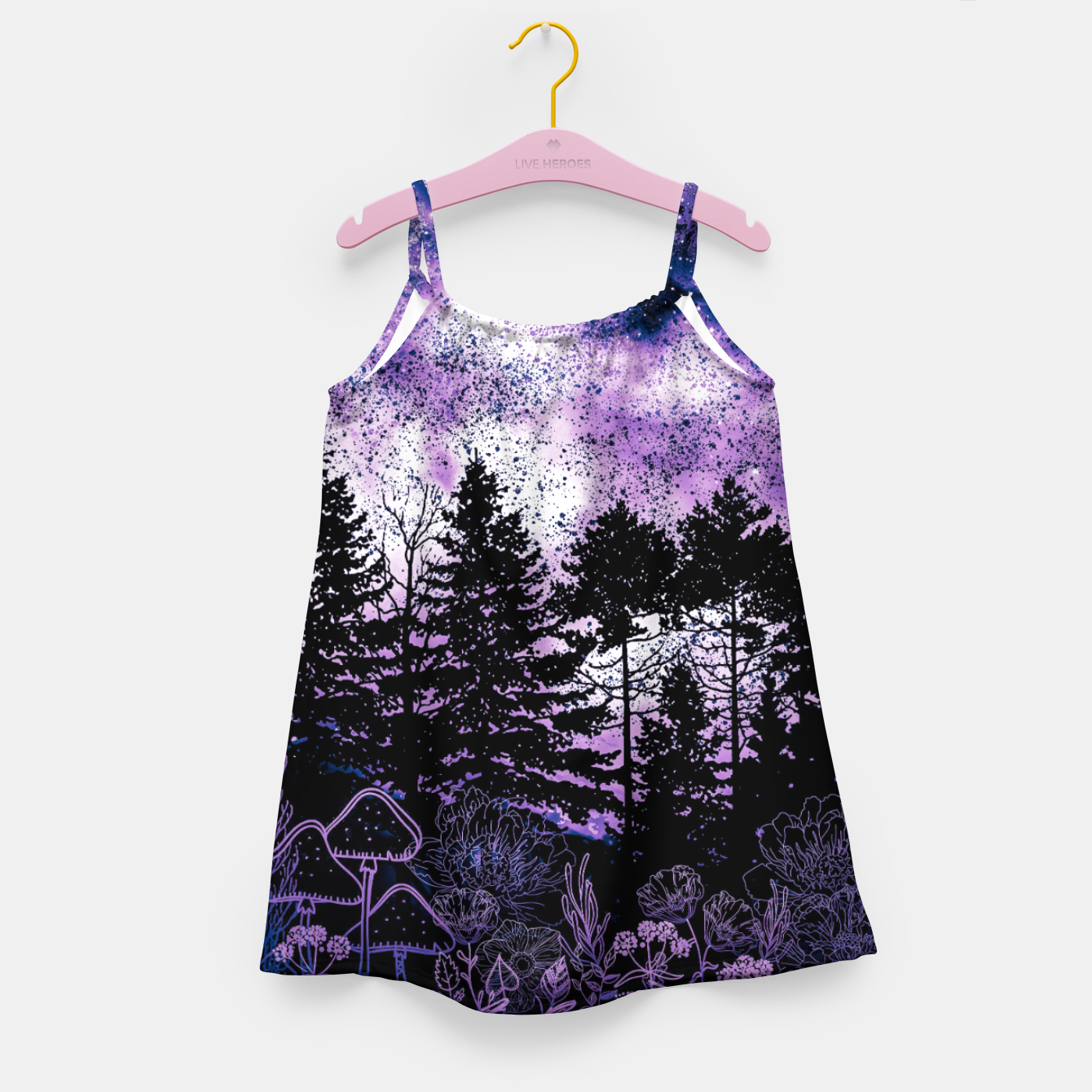Image of PURPLE FOREST Girl's dress - Live Heroes