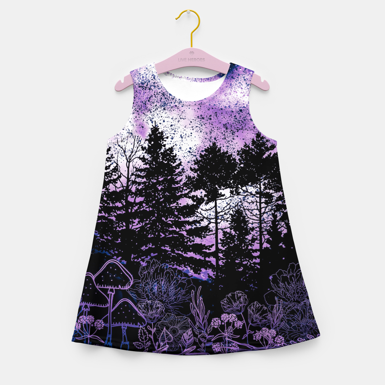 Image of PURPLE FOREST Girl's summer dress - Live Heroes