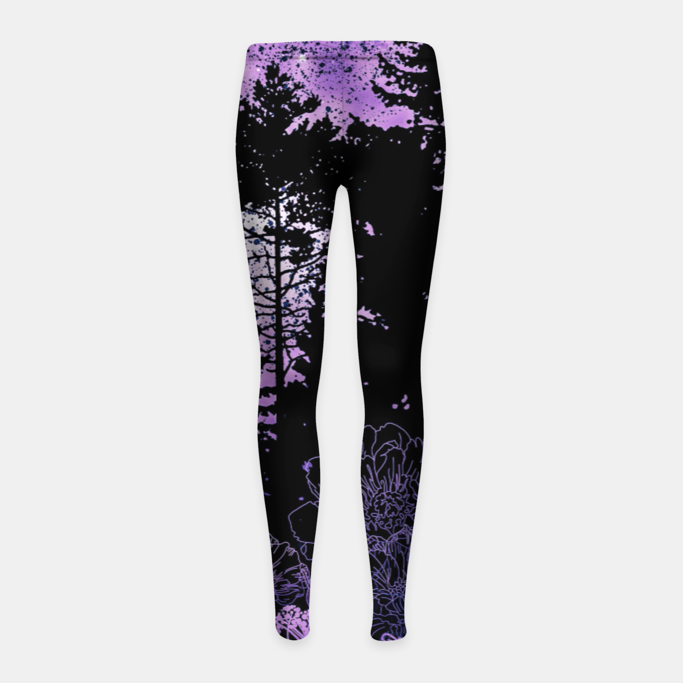 Image of PURPLE FOREST Girl's leggings - Live Heroes