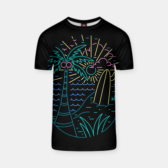 Thumbnail image of Beach Neon T-shirt, Live Heroes