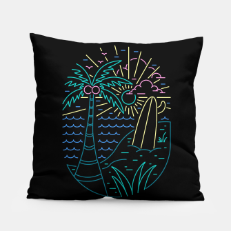 Thumbnail image of Beach Neon Pillow, Live Heroes