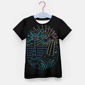 Thumbnail image of Beach Neon Kid's t-shirt, Live Heroes