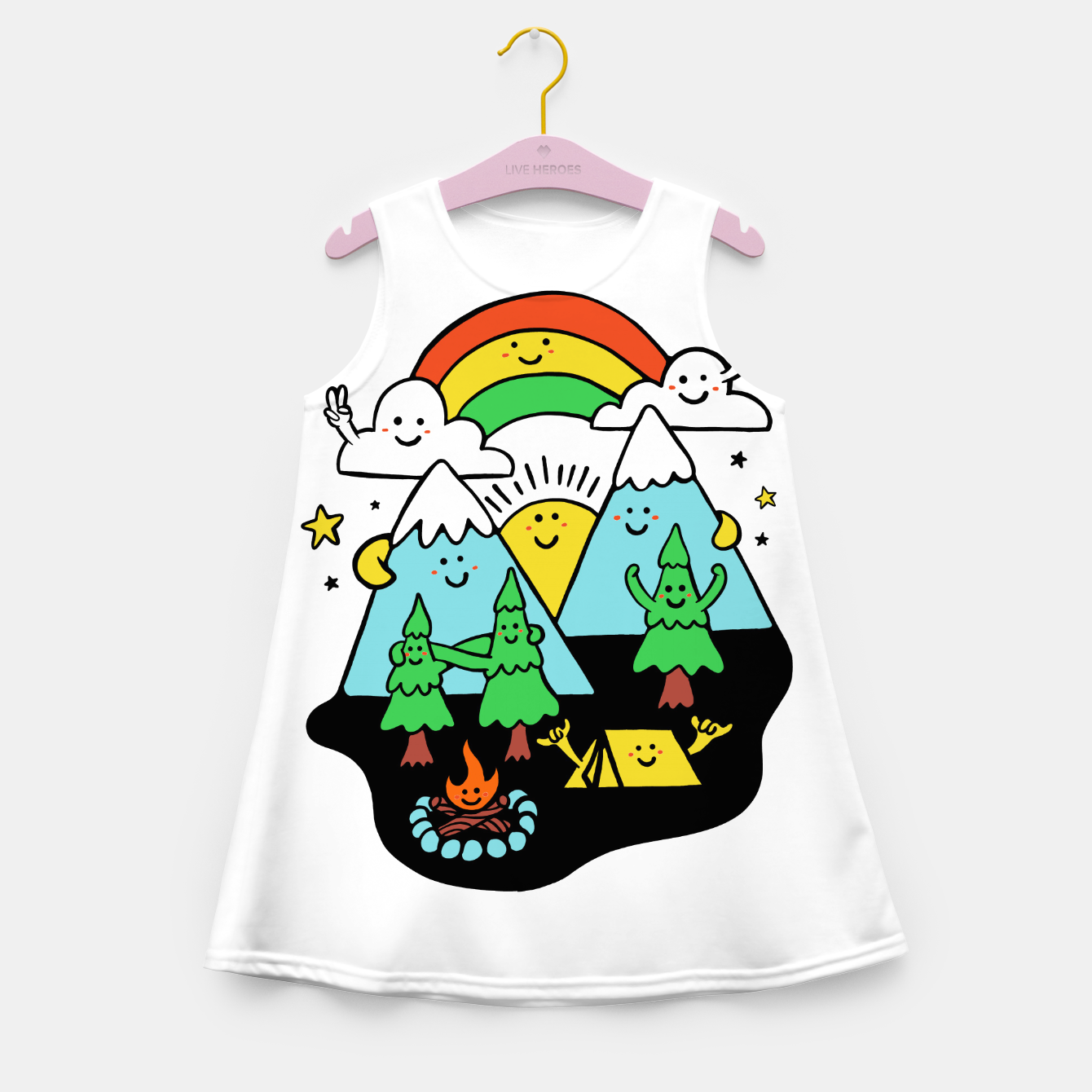 Image of Happy Nature Girl's summer dress - Live Heroes