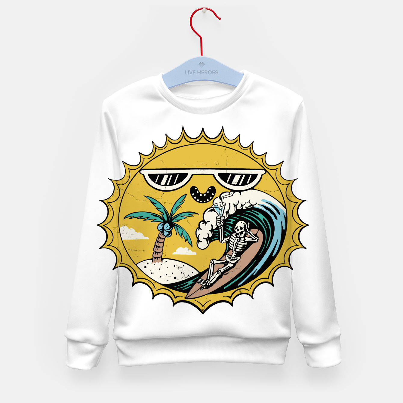 Image of Summer Relax Kid's sweater - Live Heroes