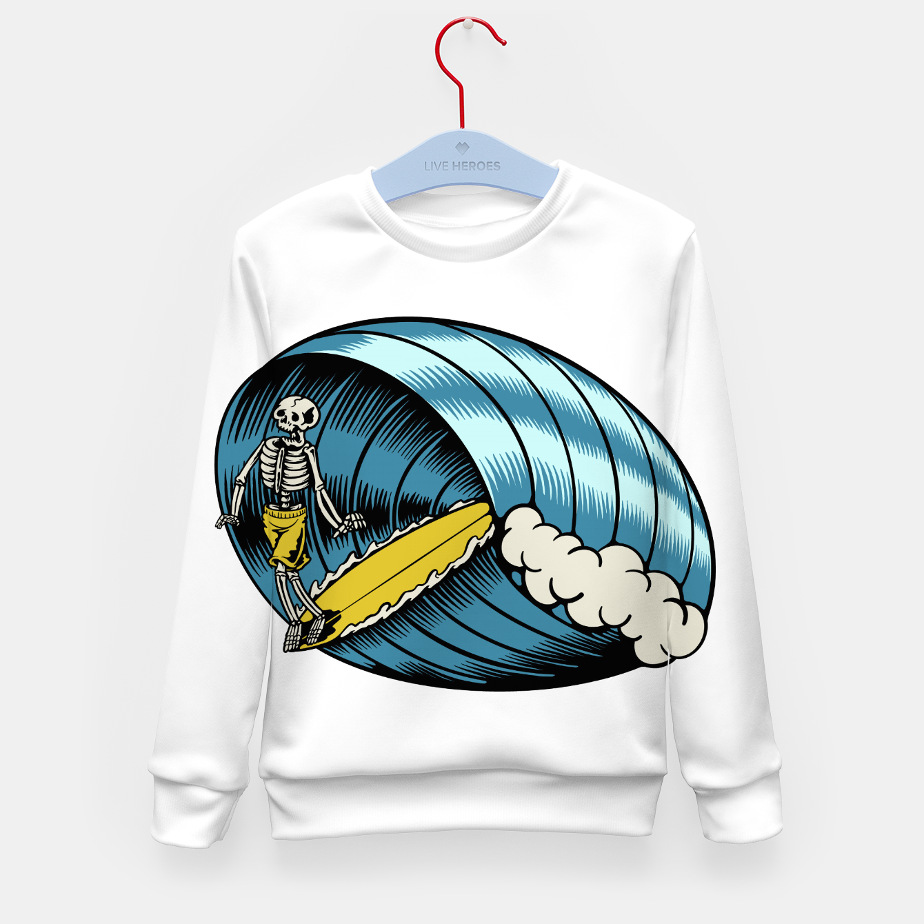 Image of Surf Nose Kid's sweater - Live Heroes