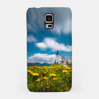 Miniatur Dandelion flowers at church of st primus Jamnik Slovenia Samsung Case, Live Heroes