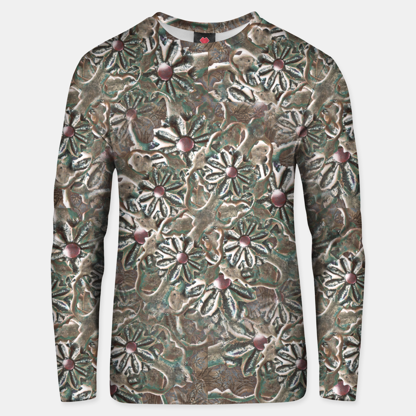 Image of Modern Floral Collage Pattern Design Unisex sweater - Live Heroes