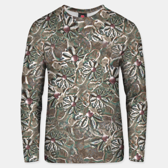Thumbnail image of Modern Floral Collage Pattern Design Unisex sweater, Live Heroes