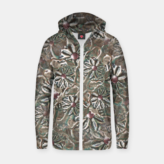Thumbnail image of Modern Floral Collage Pattern Design Zip up hoodie, Live Heroes