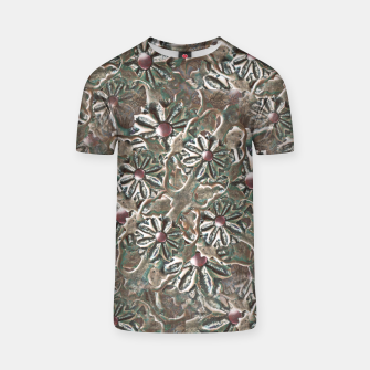 Thumbnail image of Modern Floral Collage Pattern Design T-shirt, Live Heroes