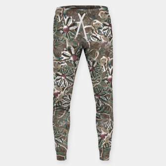 Miniature de image de Modern Floral Collage Pattern Design Sweatpants, Live Heroes