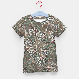 Thumbnail image of Modern Floral Collage Pattern Design Kid's t-shirt, Live Heroes