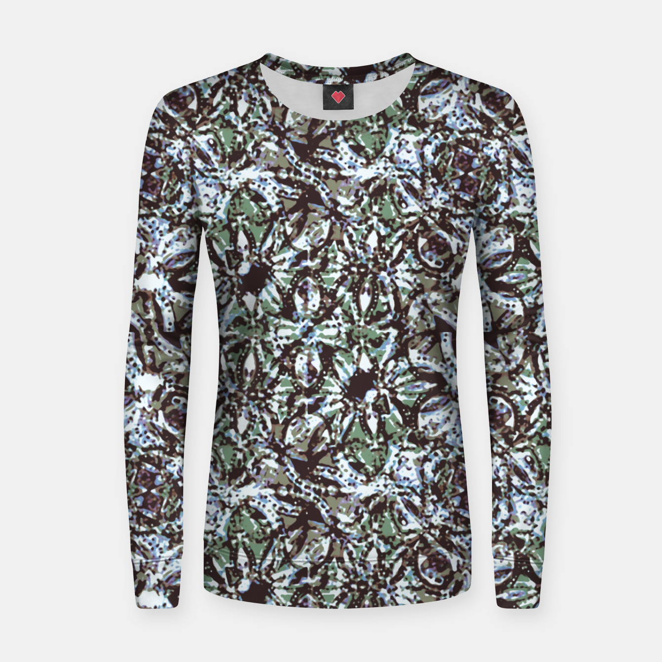 Image of Textured Ornate Design Pattern Women sweater - Live Heroes