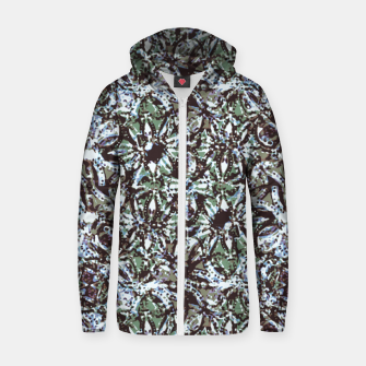 Thumbnail image of Textured Ornate Design Pattern Zip up hoodie, Live Heroes