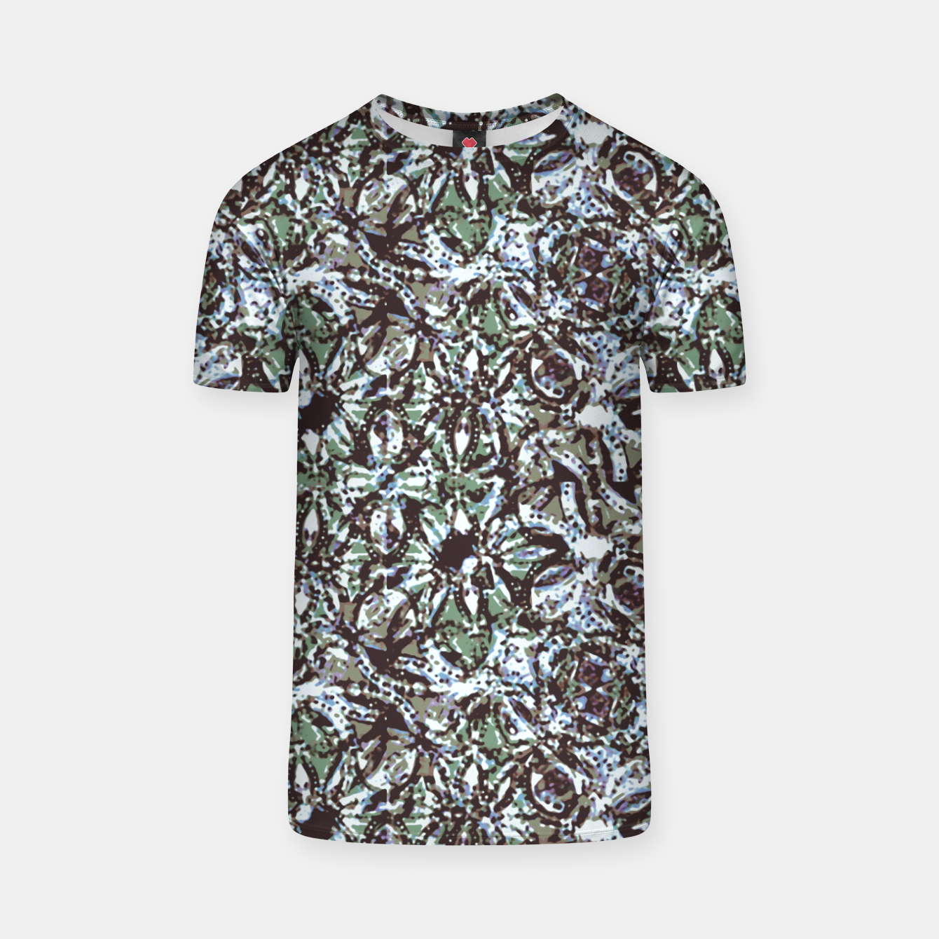 Image of Textured Ornate Design Pattern T-shirt - Live Heroes